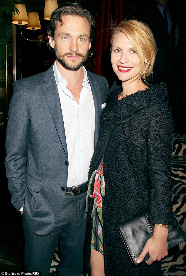 Rare night out: Claire Danes enjoyed an evening out with her husband Hugh Dancy at a book launch party for Jerry Bruckheimer: When Lightening Strikes in New York City on Wednesday