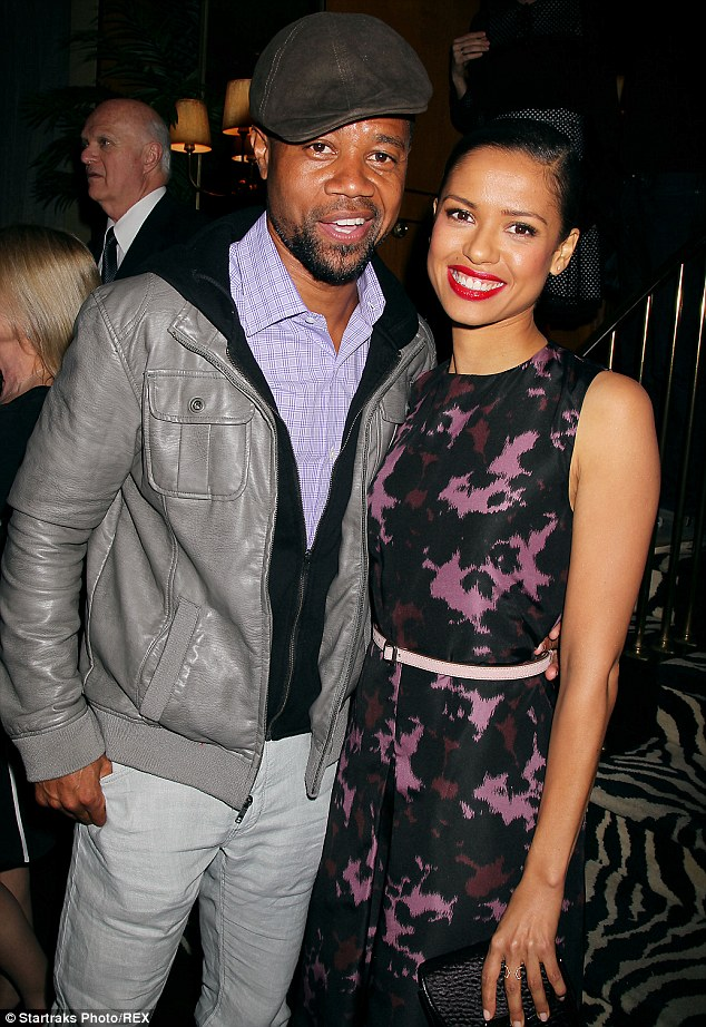 Photo op: Newly single Cuba Gooding Jr posed with lovely Gugu Mbatha-Raw at the bash