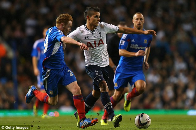 Staying in: Lamela's lack of action has seen him miss out on a place in the Argentina World Cup squad
