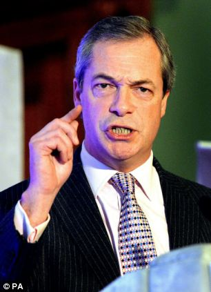 Workers listening to David Cameron's speech asked him what he thought of Ukip leader Nigel Farage, pictured
