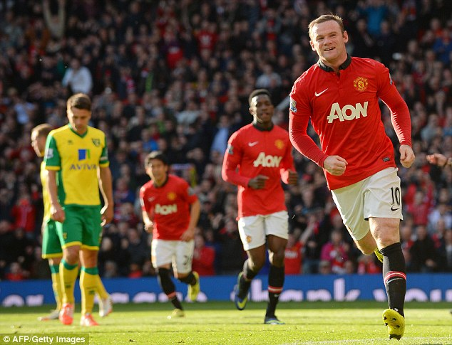 Not all bad: In a disappointing season for Manchester United, Rooney still managed to bag 19 goals