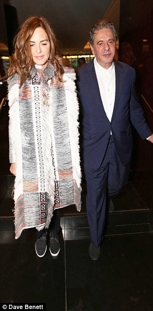 Hair care: Although Trinny was despairing about her locks before the event, they were in fine form on the night