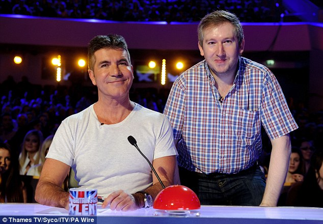 Pleased to meet you: Simon Cowelll comes face-to-face with his namesake on Brtain's Got Talent
