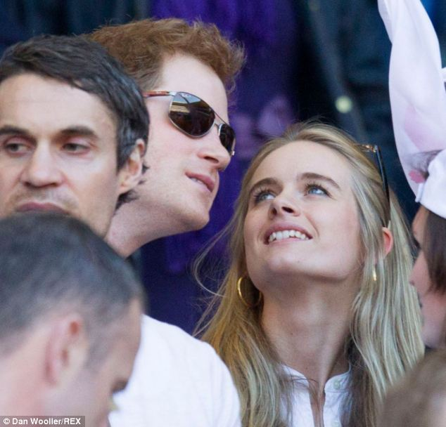 Miss Bonas' cousin Cressida (right) split from Prince Harry last week after a two-year relationship