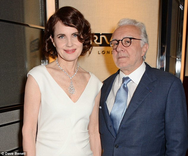 A touch of class: Elizabeth McGovern brought some Downton Abbey sophistication to the event