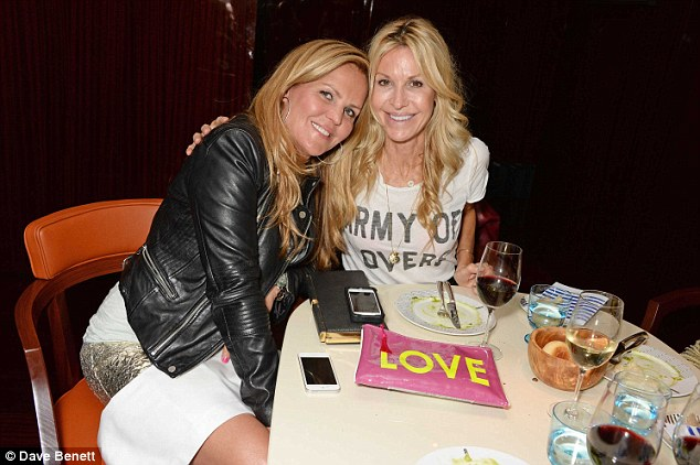 In the swim of things: Designer Melissa Odabash (right) with Anette Lundgren