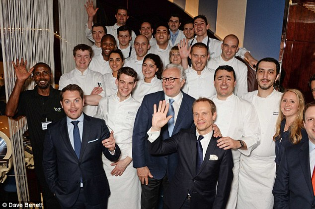 Team Rivea: The staff take a deserved bow on the opening night of the eatery