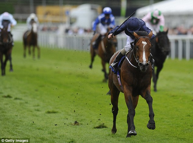 Impressive: Ryan Moore rides Orchestra to victory in the MBNA Chester Vase at