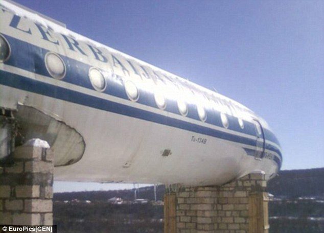 Dilapidated: The plane looks like it has seen better days, but the owners assures customers the food is top-notch