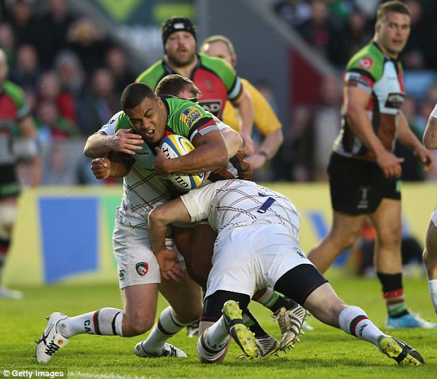 Breaking trough: Kyle Sinckler has played a key role in Harlequins' push for the play-offs