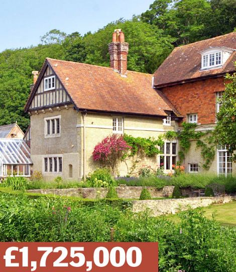 Sandown, Isle of Wight: An historic five-bedroom manor. Its six acres boast a paddock, lake, gazebo and large playground.