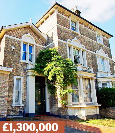 Hampton Hill, Hampton: A Victorian house with 130ft garden, five bedrooms and off-street parking, near Bushy Park. Fetched £495,000 in 2001