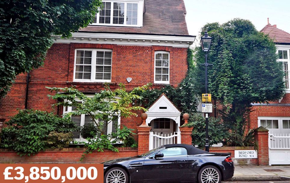 Bedford Road, London W4: This Grade II-listed, semi-detached home, with six bedrooms and a separate coach house, is close to the home of actor Colin Firth