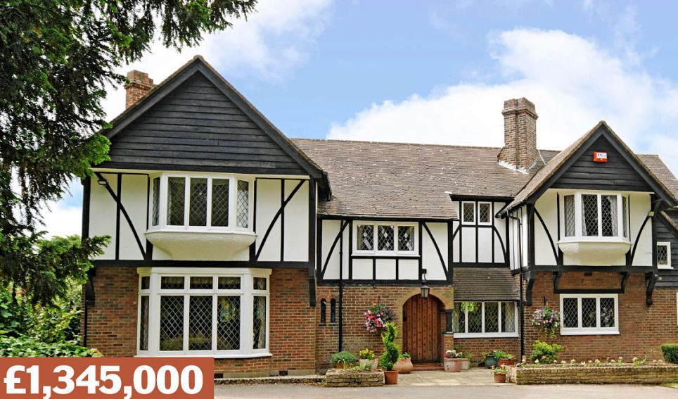 Roydon, Harlow, Essex: This detached country house on a two-acre plot has four double bedrooms and an outdoor swimming pool