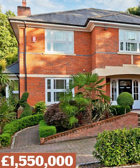 Esher, Greater London KT10: A modern, detached house with five bedrooms, inside a five-property gated development. Sold for £1¿million in 2005