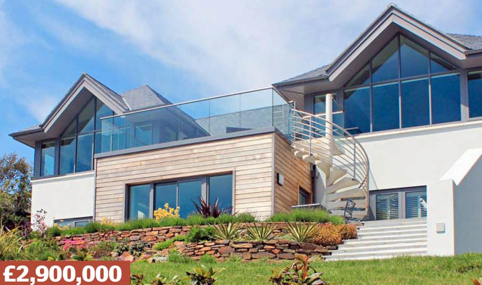Upper Castle Road, St. Mawes, Cornwall: A detached house in sailing hotspot of St Mawes, with four en-suite bedrooms,  sun terrace, landscaped gardens, spa and pool. Went for £1.48million in 2007