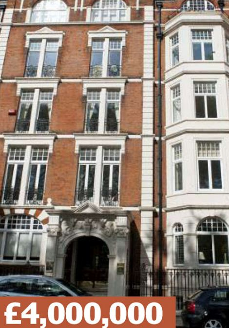 Franklins Row,  London SW3: A two-bedroom apartment overlooking Burton's Court, Chelsea's famous park and tennis academy. Local residents include the Duchess of Cambridge's sister Pippa Middleton and brother James