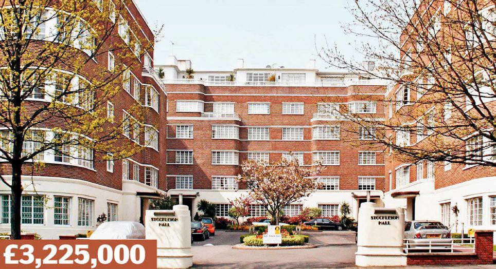 Prince Albert Road, London NW8: A three-bedroom, two-reception apartment which boasts  views over Regent's Park. Porters are on hand to look after  the building's residents. In 2012 it sold for £2.15million