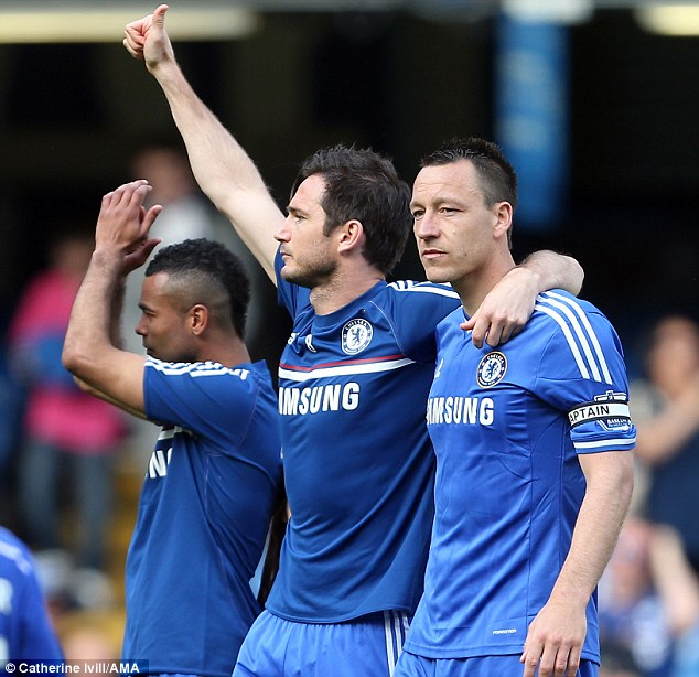 Uncertain future: John Terry earned a new contract, but Cole and Frank Lampard are yet to receive an offer