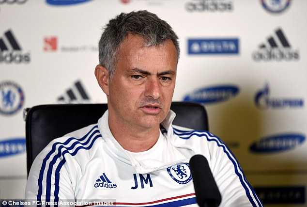 Centre of attention: Mourinho answers questions during his pre-match press conference