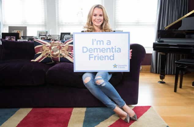 Amanda Holden, pictured, has become a Dementia Friend to help make life better for the 670,000 people in England living with the condition