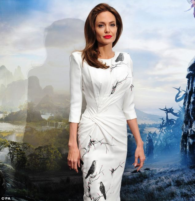 Angelina Jolie, attending a photocall for new film Maleficent at the Corinthia Hotel in London