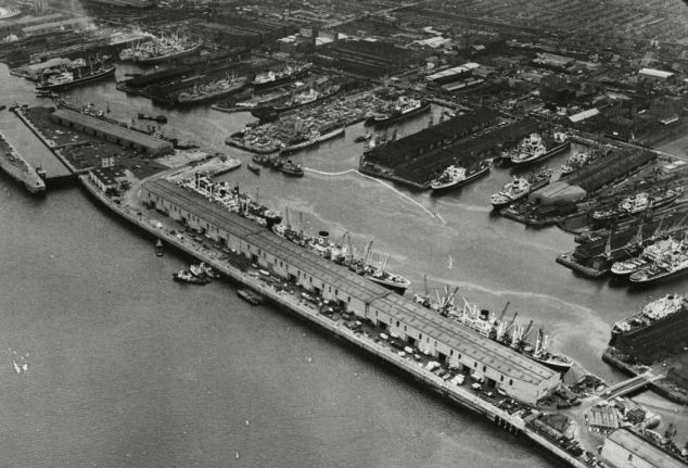 Liverpool's dockyard, where Mrs Kelly's father worked before she ended up serving the Royal household