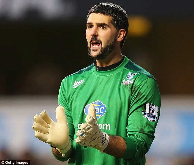 Shot stopper: Julian Speroni is yet to be offered a new contract at Crystal Palace despite his fine displays