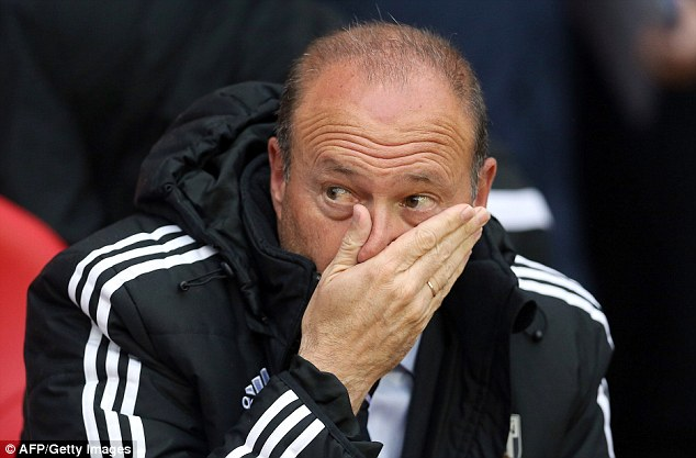Short stay: Pepe Mel is set for crunch talks with West Brom's chairman after Sunday's game with Stoke