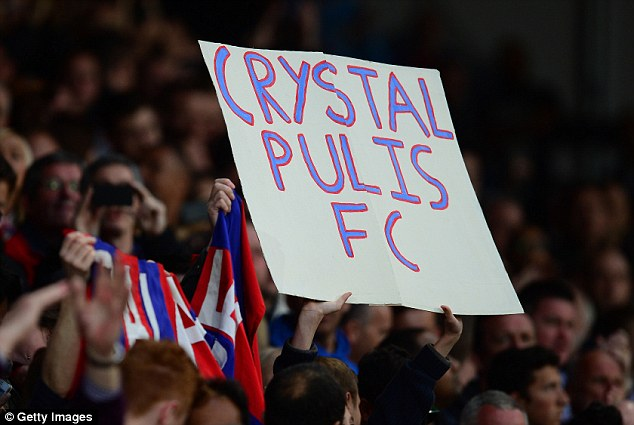 Fans' favourite: Pulis has become popular with Palace supporters after guiding them to Premier League safety
