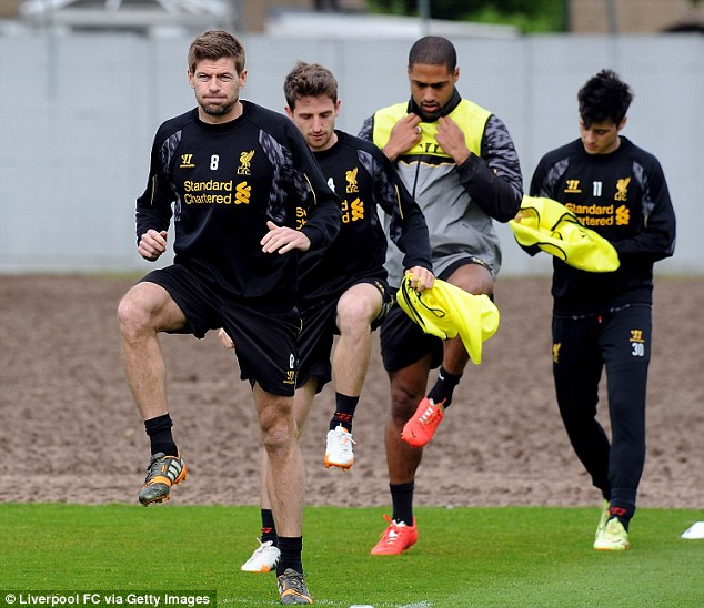Useful: Steven Gerrard (left) and other members of the Liverpool squad have worked with Dr Steve Peters this season