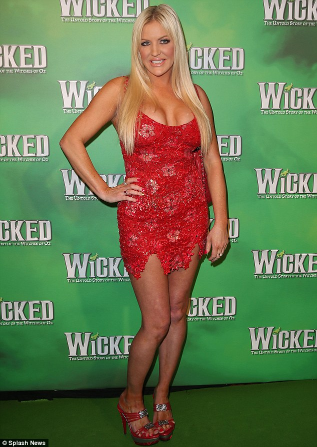Single lady: Brynne Edelsten revealed she doesn't like not having a boyfriend or husband while she appeared on the Wicked red carpet in Melbourne