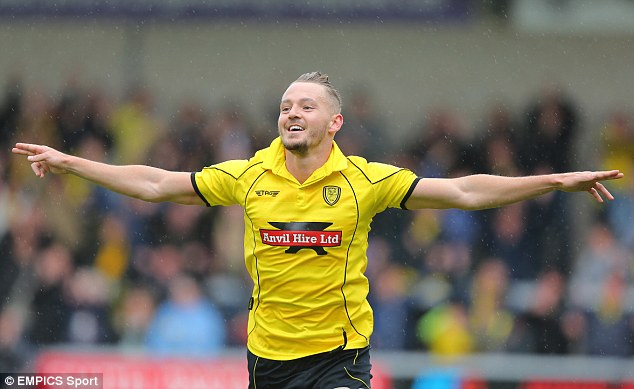 Slender: Adam McGurk's goal has given Burton a narrow advantage heading into the second leg