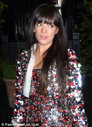 Lily Allen spotted on a night out at the venue