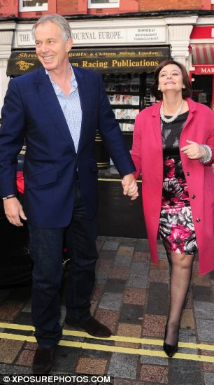 Tony and Cherie Blair heading for the Chiltern Firehouse
