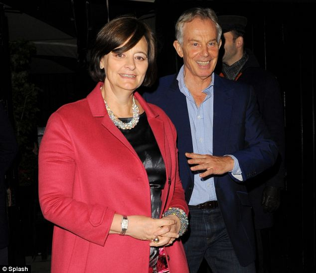 It is the third time the pair have been seen in public together following allegations of Mr Blair's close relationship with Rupert Murdoch's ex-wife Wendi Deng