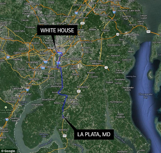 Scene: Four agents - two in the morning and two in the evening - were reportedly sent to the town of La Plata, Maryland, about a one hour drive from Washington, for the 'special assignment'