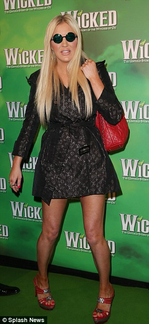 Unusual: Brynne Edelsten wore some peculiar glasses to the event