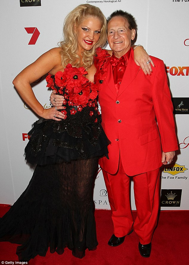 Love split: Brynne and her ex-husband Geoffrey Edelsten in Melbourne in 2012
