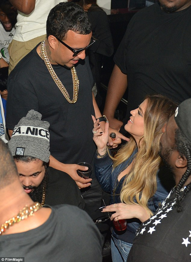 Stand by your man! It appeared as if the Keeping Up With The Kardashians star stood near to the rapper for most of the night