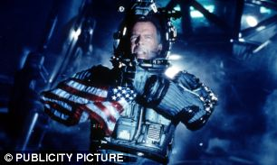 Bruce Willis in the 1988 film Armageddon, which saw astronauts landing on an asteroid to save Earth.