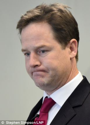 Nick Clegg, Deputy Prime Minister,  is opposed to mandatory sentences for those convicted twice of carrying a knife