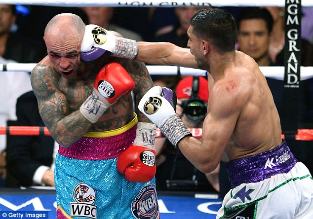 Moving on up: Khan made a good impression in what was his first fight a welterweight