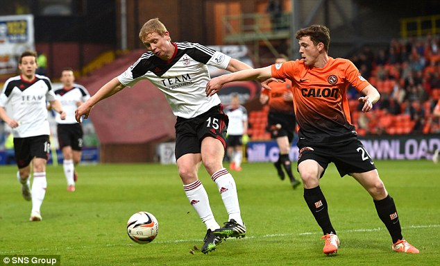 Bright future: Dundee United left back Andy Robertson will hope to stake his place for a regular place in the side