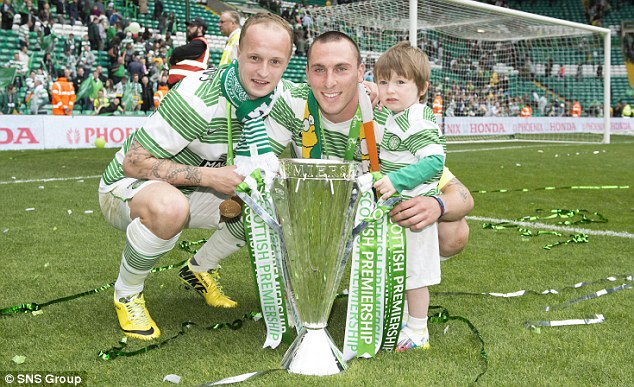 No worries: Strachan is not worried about Leigh Griffiths (left) who is in hot water with the SFA