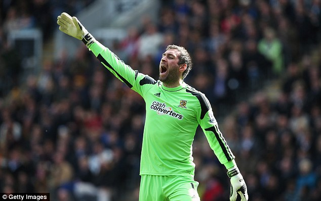 No 1: Allan McGregor looks set to be fit to take his place between the posts for Scotland