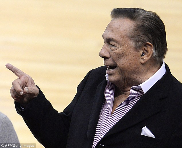 Not welcome: Banished Los Angeles Clippers owner Donald Sterling attending the NBA playoff game between the Clippers and the Golden State Warriors shortly before he was barred from the league
