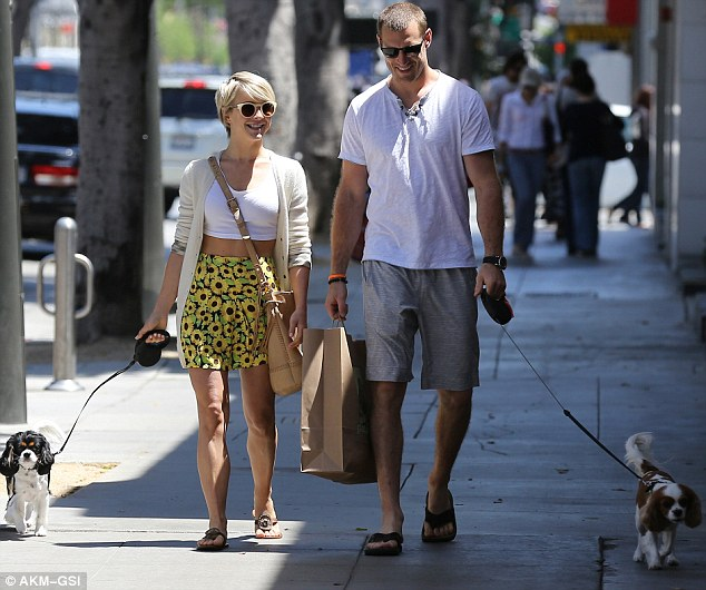 Shopping: The couple appear to have picked up some goodies along the way