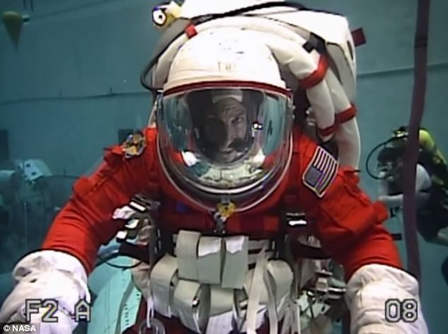 The astronauts are testing suits and equipment for the mission