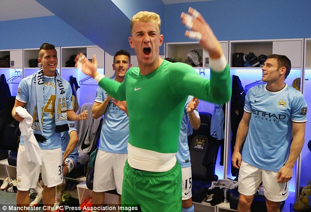 Leader of the pack: Hart sounds a rallying cry as City bask in the glory of winning the league